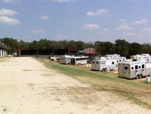 More RV parking behind stalls
