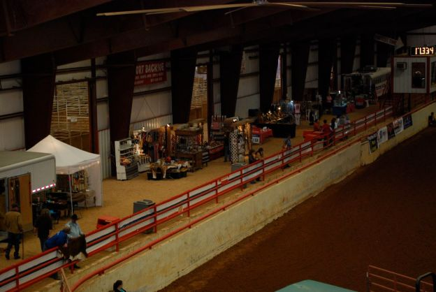 Looking at Vendor area from top of seating