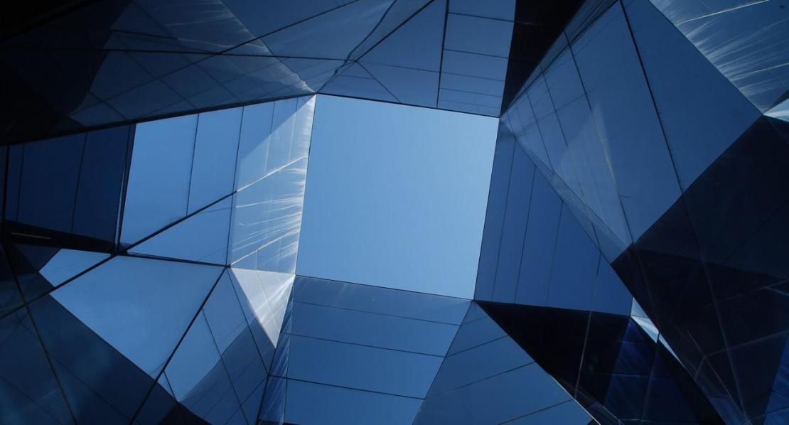 Blue Shaded Glass Ceiling