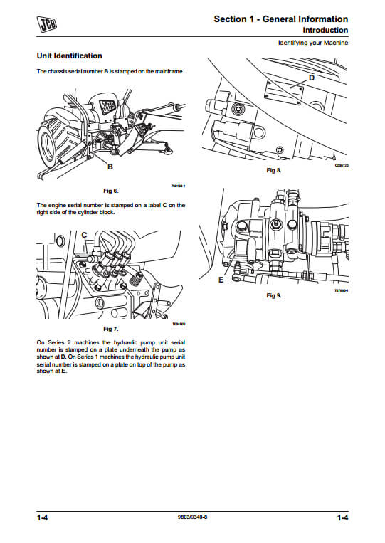 JCB Mini CX Backhoe Loader Service Repair Manual(PN:9803