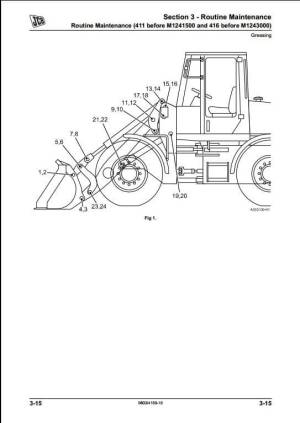JCB 411,416 Wheeled Loader Service Repair Manual | A