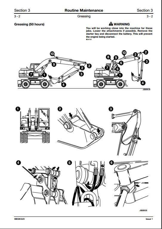 Jcb Js200w Wheeled Excavator Service Manuals : Food Is