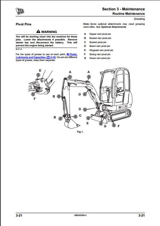 JCB 8014,8016,8018 Mini Excavator Service Repair Manual