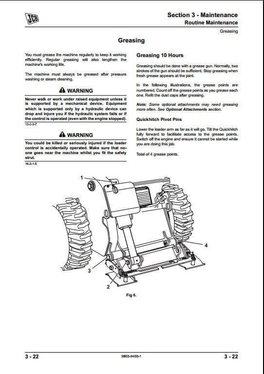 JCB ROBOT 190,1110 Skid Steer Loader Service Repair Manual