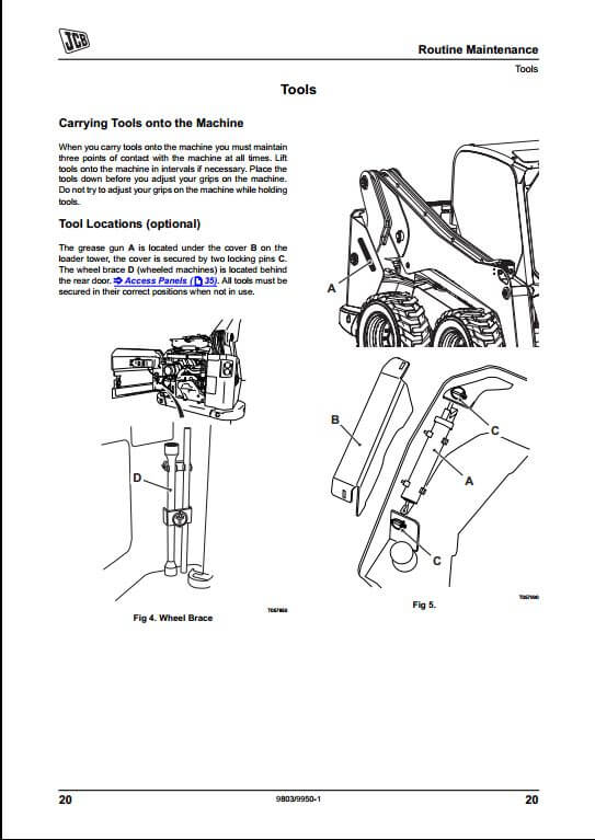 JCB Skid Steer Large Platform Loader Service Repair Manual