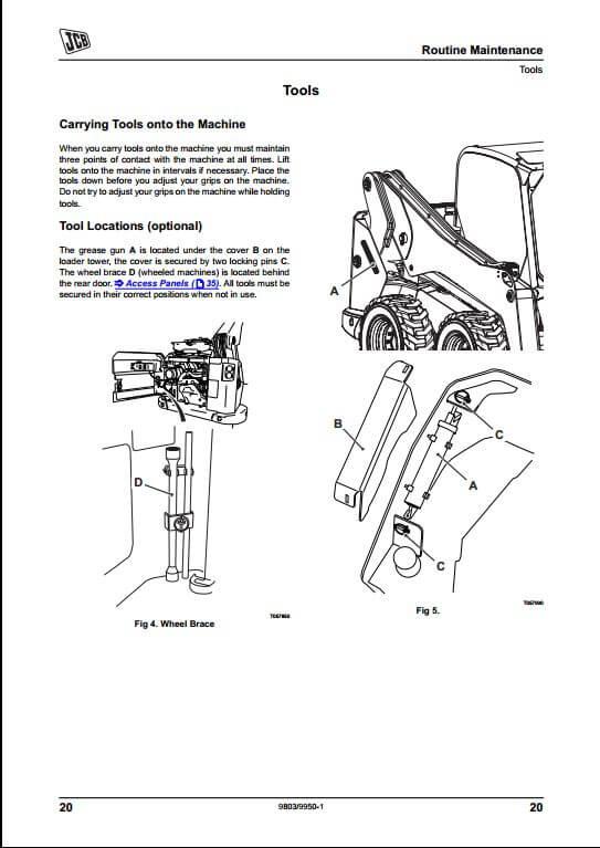 JCB Skid Steer Large Platform Loader Service Repair Manual