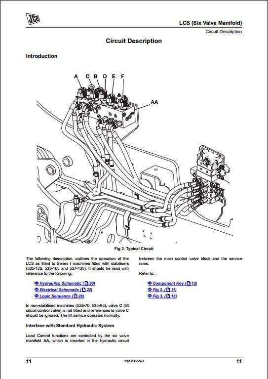 JCB LCS,LC1,LC2,LC3,LC4,MC05,MC06 Load Control Systems