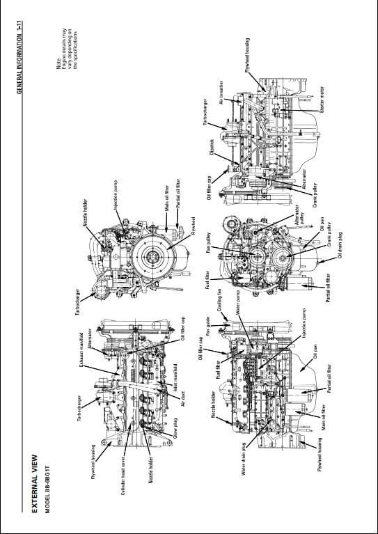Isuzu Engine AA-4BG1T, AA-6BG1,BB-4BG1T, BB-6BG1T Workshop