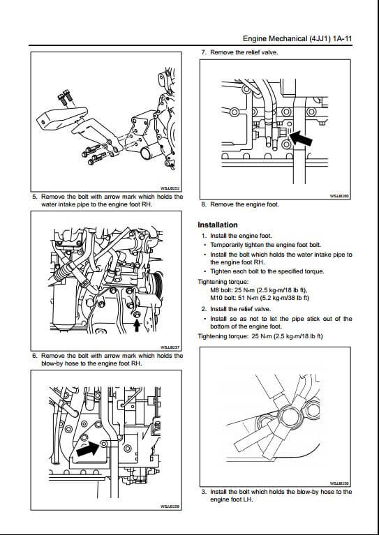 Isuzu A1-4JJ1 Diesel Engine Workshop Service Repair Manual