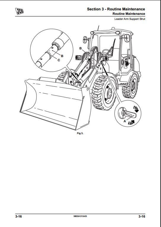 JCB 406,409 Wheeled Loading Shovel Service Repair Manual