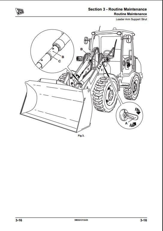 JCB 406,409 Wheeled Loading Shovel Service Repair Manual