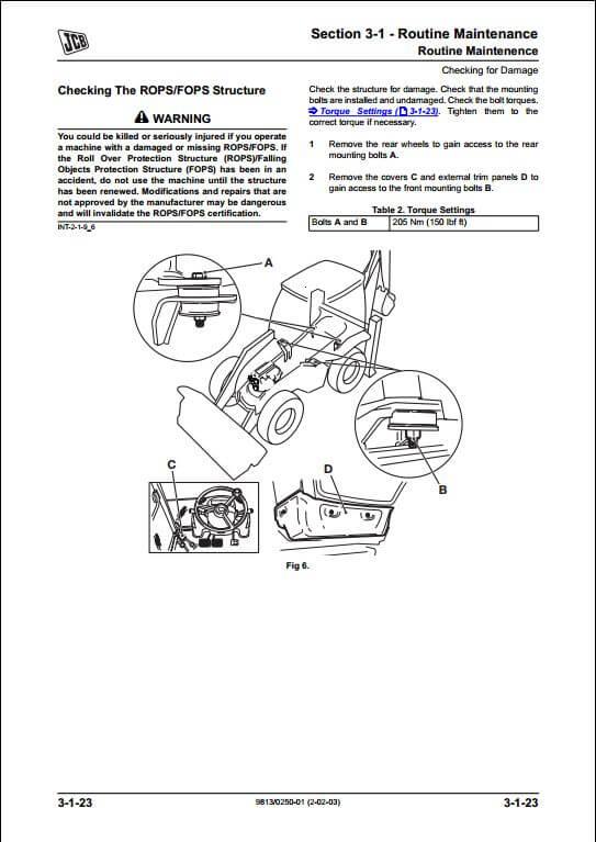 Jcb 4cx Service Manual Pdf