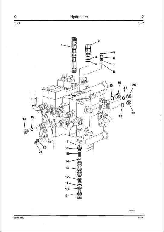 JCB 530B-HL,525B-HL Loadall Range Servo Hydraulics Service