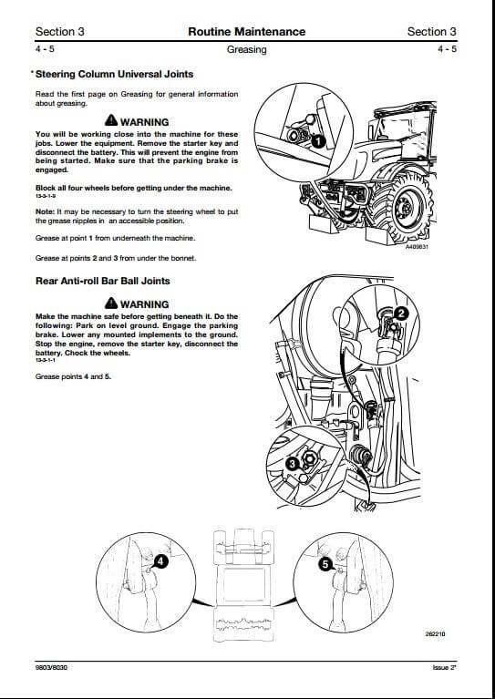 JCB 3170,3190,3200,3220,3230 Fastrac Service Repair Manual