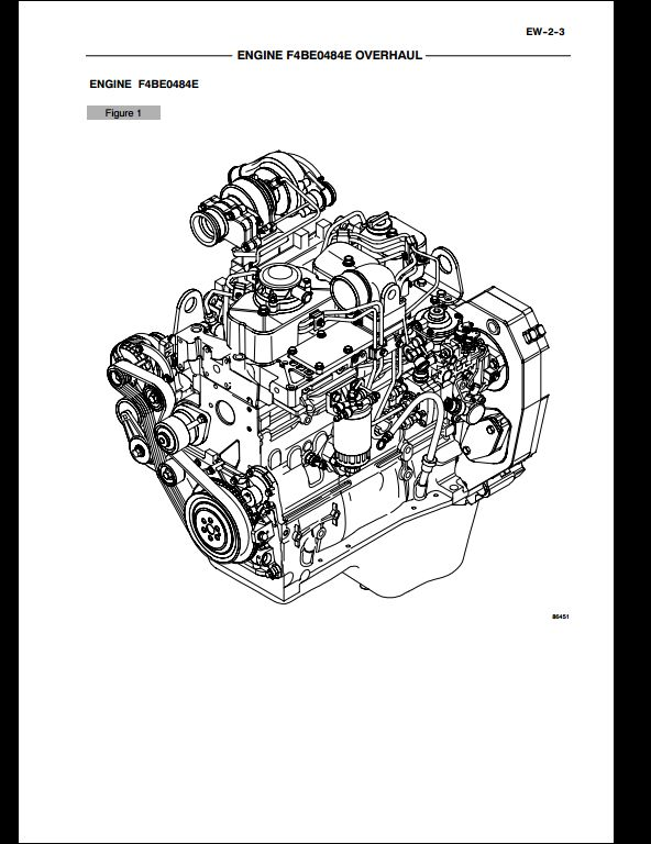 Case F4BE0484E,F4BE0684D,F4BE0684B Engine Service Repair