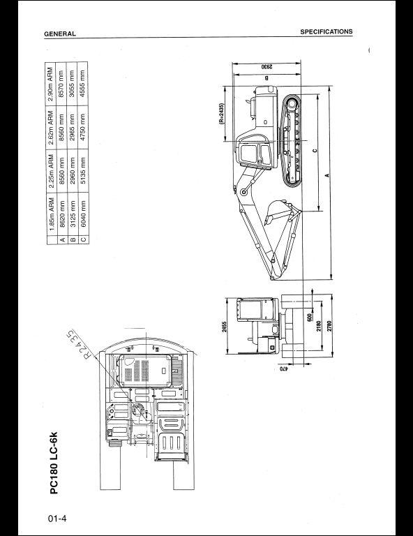 KOMATSU PC160-6k,PC180LC,PC180NLC-6k Hydraulic Excavator