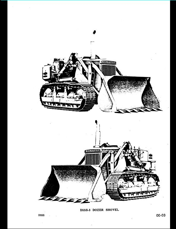 KOMATSU D55S-3 Bulldozer Service Repair Workshop Manual