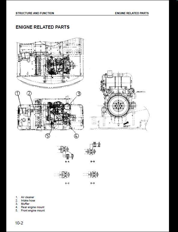 KOMATSU PW130ES-6K Hydraulic Excavator Service Repair