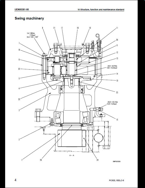 KOMATSU GALEO PC800-8,PC800LC Hydraulic Excavator Service