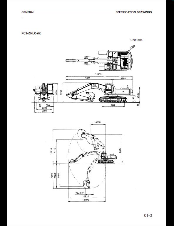 KOMATSU PC340, PC340LC-6K PC340NLC-6K Hydraulic Excavator