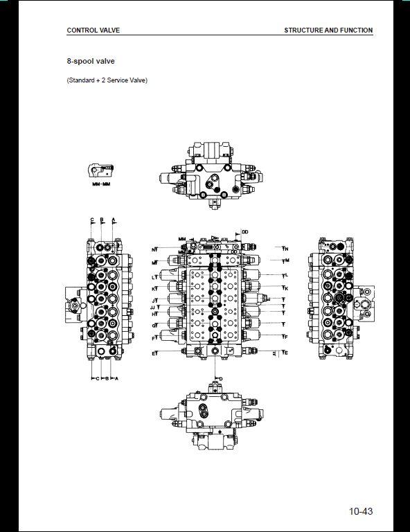 KOMATSU PC210,210LC-6K,PC240LC,PC240NLC-6K Hydraulic