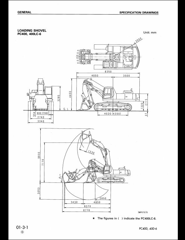 KOMATSU PC400-6,PC400LC-6,PC450-6,PC450LC-6 Hydraulic Excavator Service Repair Workshop Manual