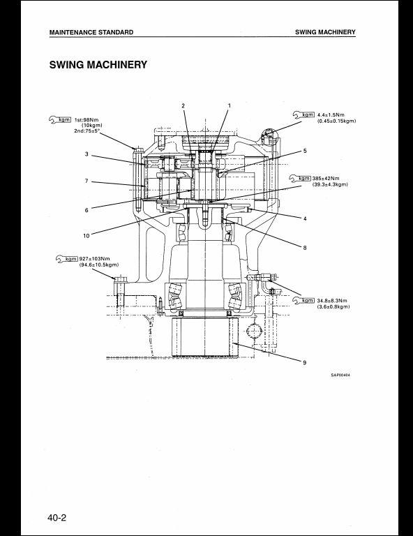 KOMATSU PC450-6K,PC450LC-6K Hydraulic Excavator Service