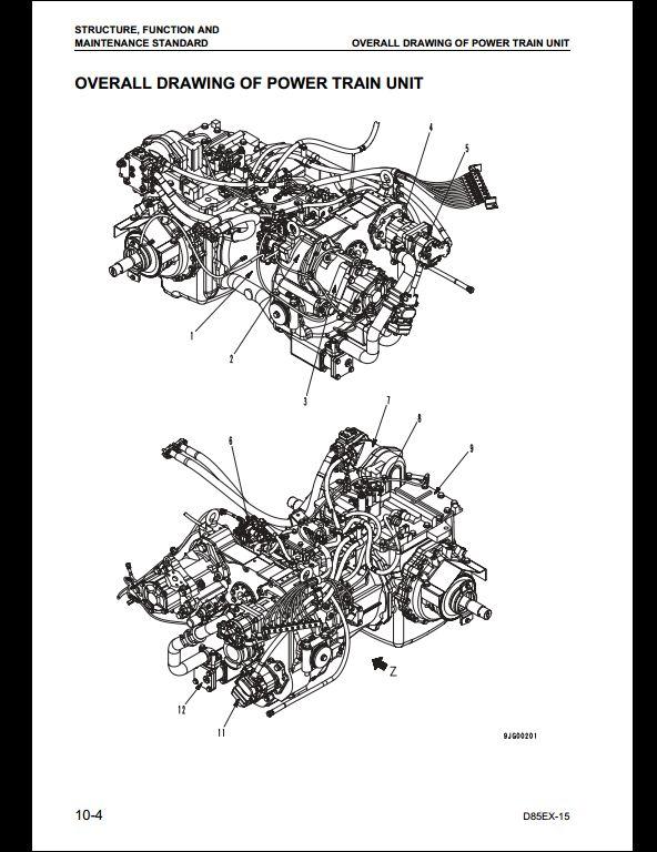 KOMATSU D85EX-15,D85PX-15 Bulldozer Service Repair