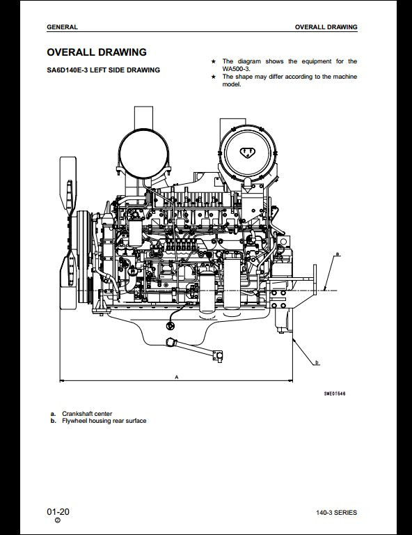 KOMATSU 140-3 Series Diesel Engine Service Repair Workshop