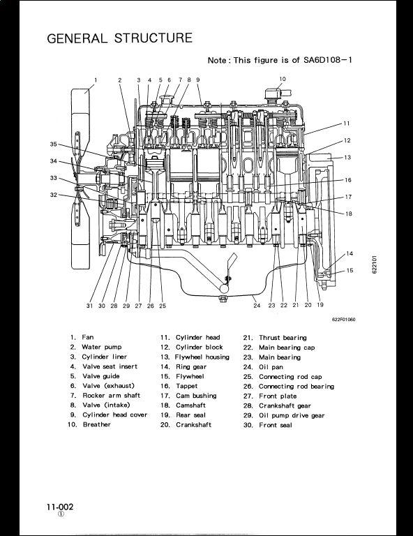 1998 KOMATSU 108 Series Diesel Engine Service Repair