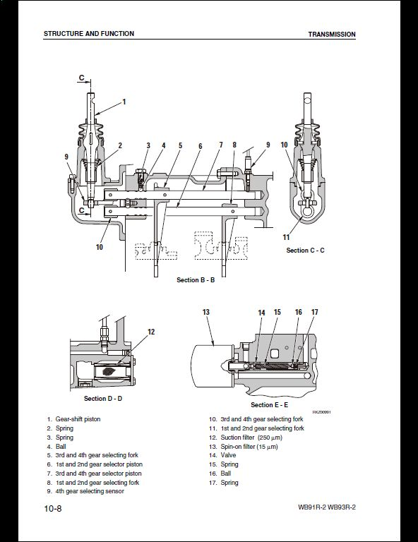 KOMATSU WB91R-2,WB93R-2 avance Backhoe Loader Service