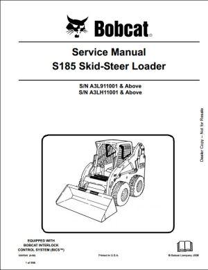 Bobcat S185 Skid Steer Loader Service Repair Workshop Manual A3L911001A3LH11001 | A Repair