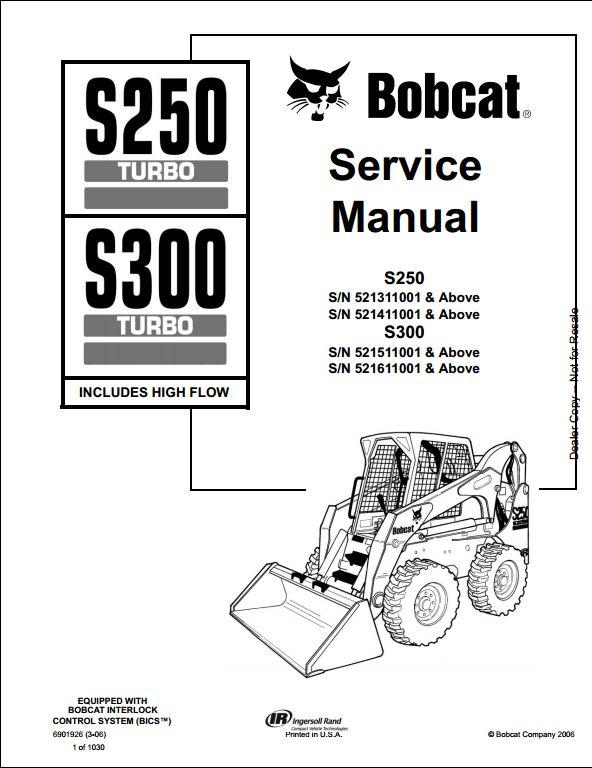 bobcat s250 wiring schematic