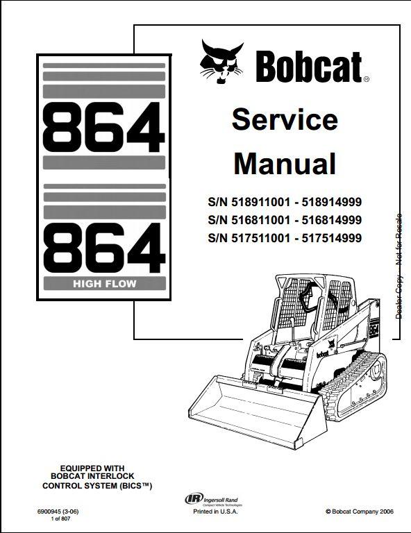 bobcat 864 manual