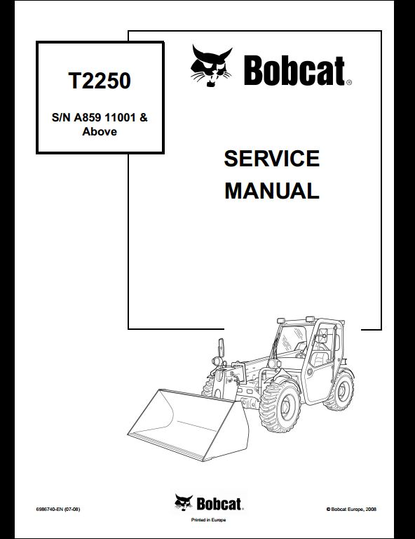 Bobcat T2250 Track Loader Service Repair Workshop Manual