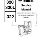 Bobcat 320/320L,322 Mini Excavator Service Repair Workshop