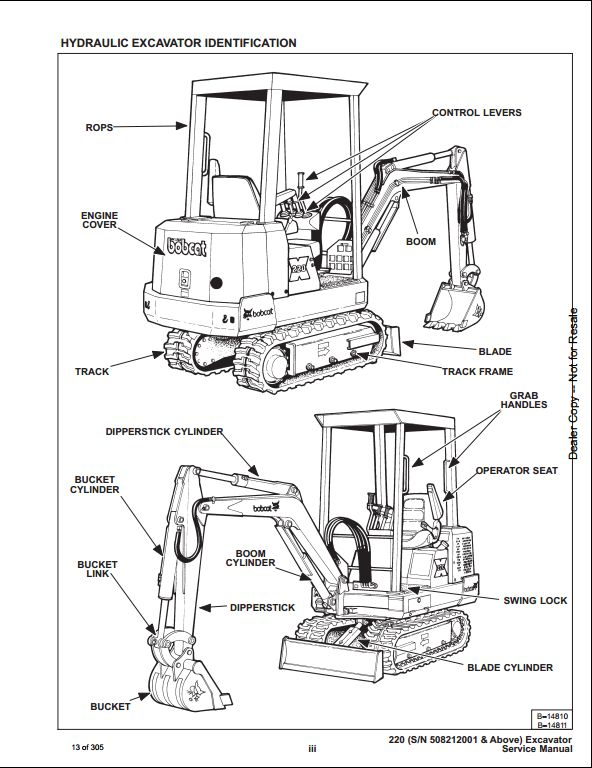 Bobcat X220 Mini Excavator Service Repair Workshop Manual