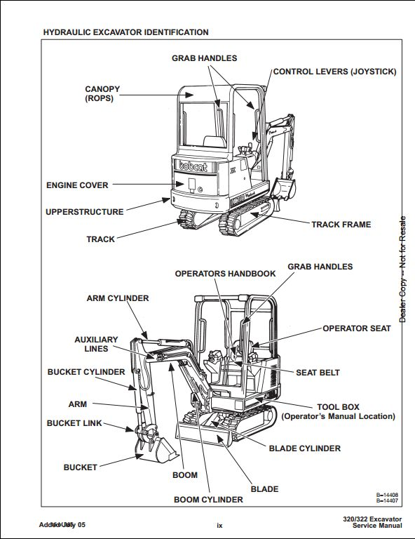 Bobcat X320/322 Mini Excavator Service Repair Workshop
