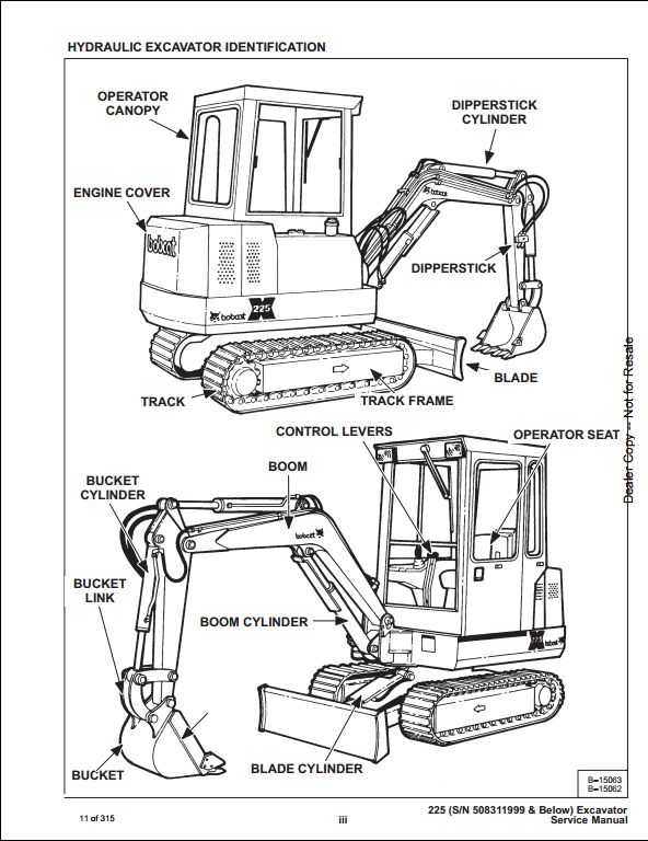 Bobcat X225 Mini Excavator Service Repair Workshop Manual