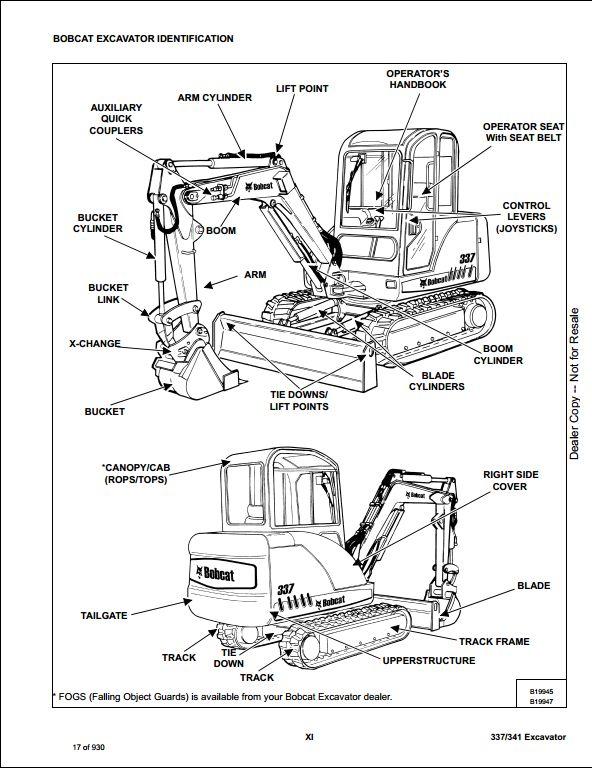 2008 Bobcat 337, 341 Compact Excavator Service Repair