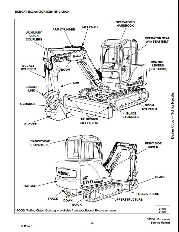 Bobcat 337 Repair Manual