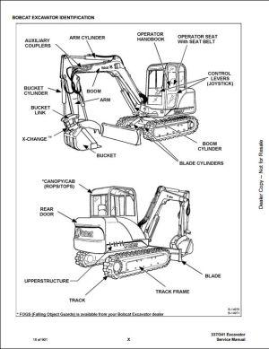 2007 Bobcat 337 341 Mini Excavator Service Repair Workshop Manual 233311001233211001 | A Repair