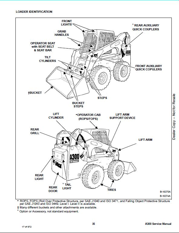 Bobcat A300 All-Wheel Steer Loader Service Repair Workshop