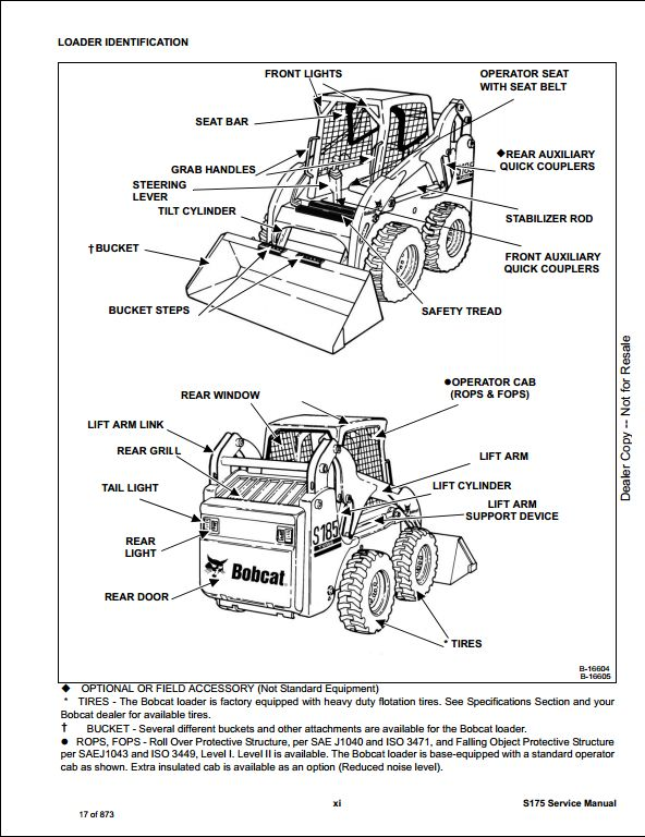 Bobcat S175 Skid Steer Loader Service Repair Workshop