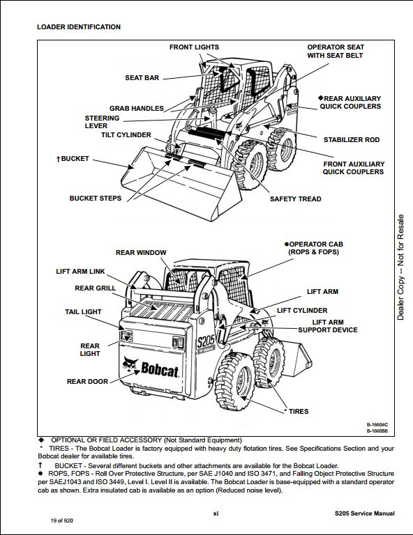 Bobcat S205 Skid Steer Loader Service Repair Workshop