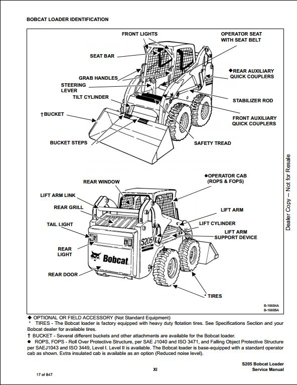 Bobcat S205 Turbo High Flow Skid Steer Loader Service