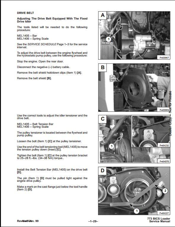 Bobcat 773 Skid Steer Loader Service Repair Workshop