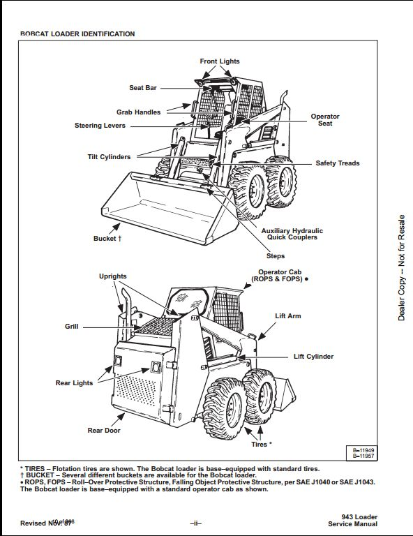 Bobcat 943 Skid Steer Loader Service Repair Workshop