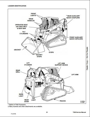 Bobcat T300 Compact Track Loader Service Repair Workshop Manual A5GU20001A5GV20001   A Repair