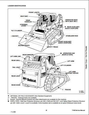 Bobcat T190 Compact Track Loader Service Repair Workshop Manual A3LN11001A3LP11001 | A Repair